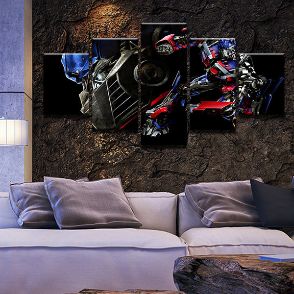Transformers Optimus Prime 5 Panel Canvas Print Wall Art