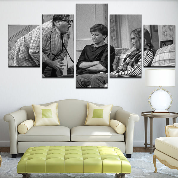 Chris Farley Matt Foley Van By The River 5 Panel Canvas Print Wall Art