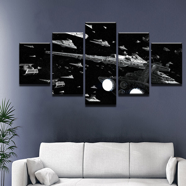 Star Wars Imperial Fleet 5 Panel Canvas Print Wall Art