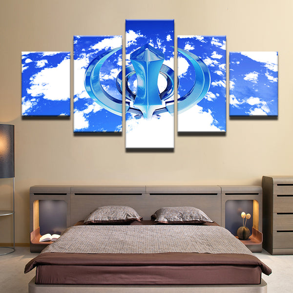 Khanda 5 Panel Canvas Print Wall Art