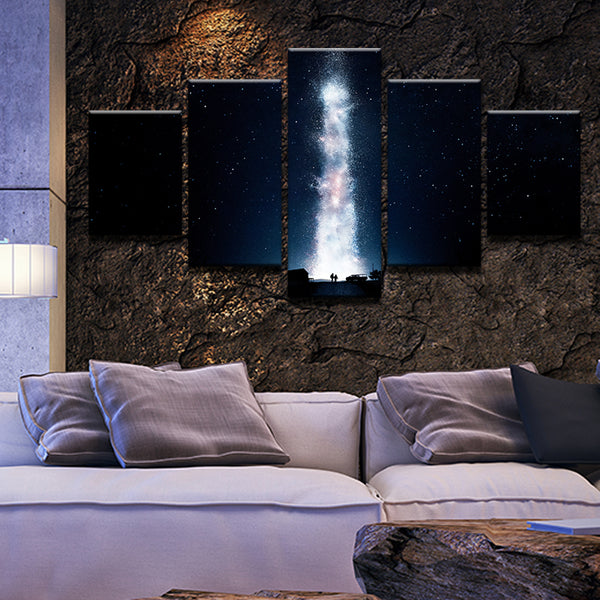 Interstellar 5 Panel Canvas Print Wall Art
