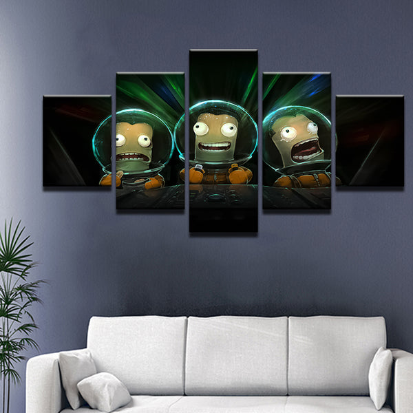 Kerbal Space Program 5 Panel Canvas Print Wall Art