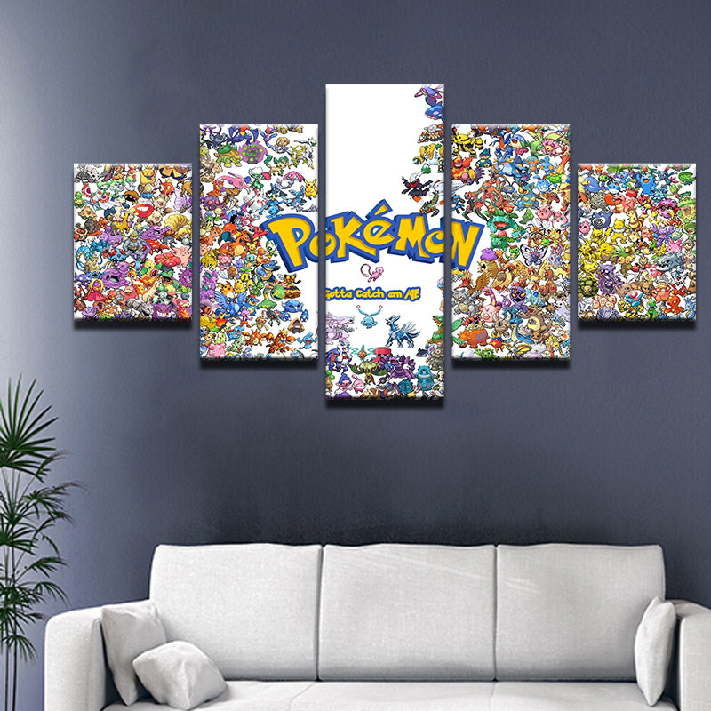 Pokemon Pokedex Gotta Catch Em All Large Poster Art Print Gift Banner 1.5 Metre
