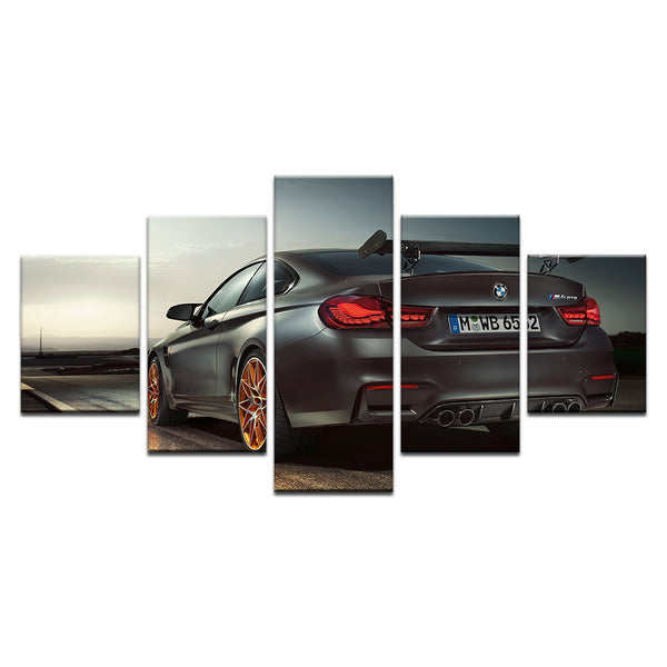 BMW 5 Panel Canvas Print Wall Art