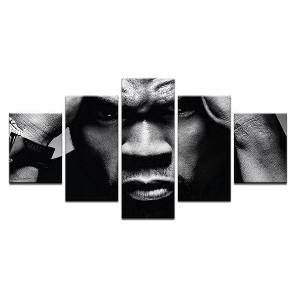 50 Cent 5 Panel Canvas Print Wall Art