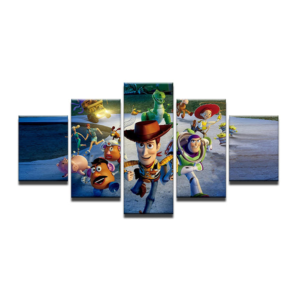 Toy Story Disney 5 Panel Canvas Print Wall Art