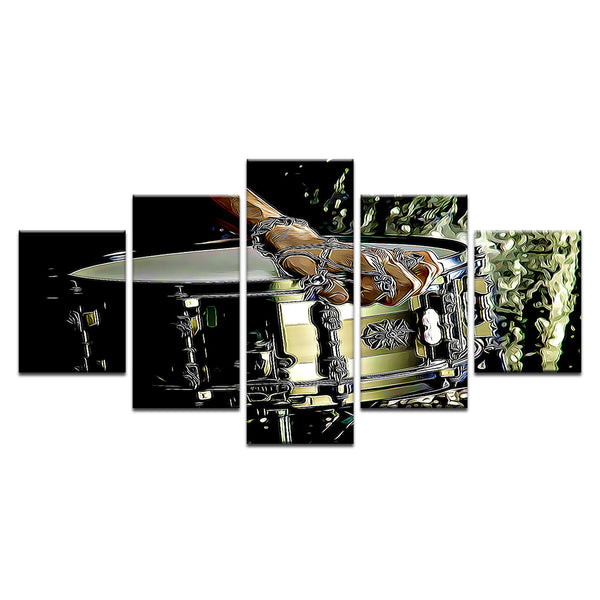 Drum Barbed Wire 5 Panel Canvas Print Wall Art