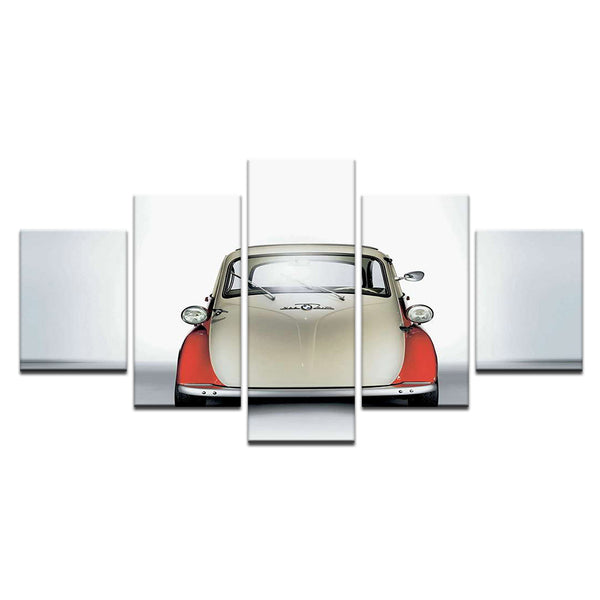 BMW Isetta 5 Panel Canvas Print Wall Art