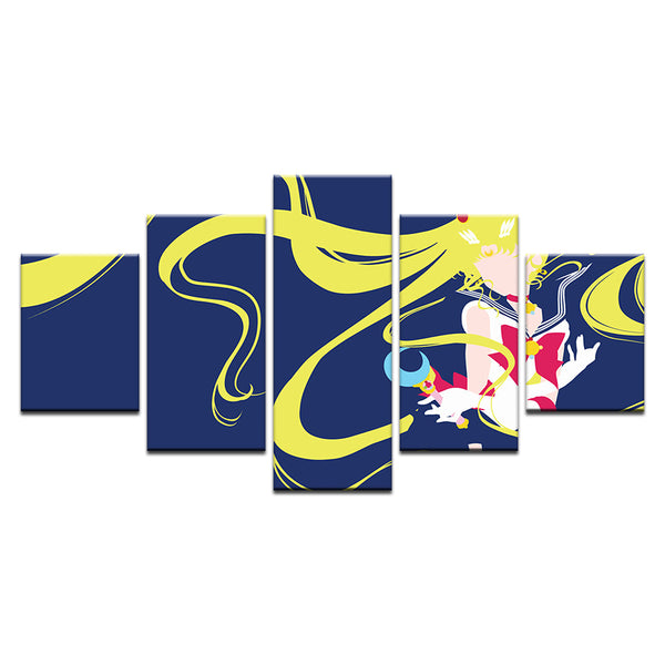 Sailor Moon Crystal 5 Panel Canvas Print Wall Art