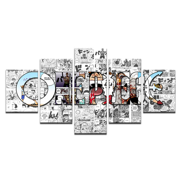 One Piece 5 Panel Canvas Print Wall Art