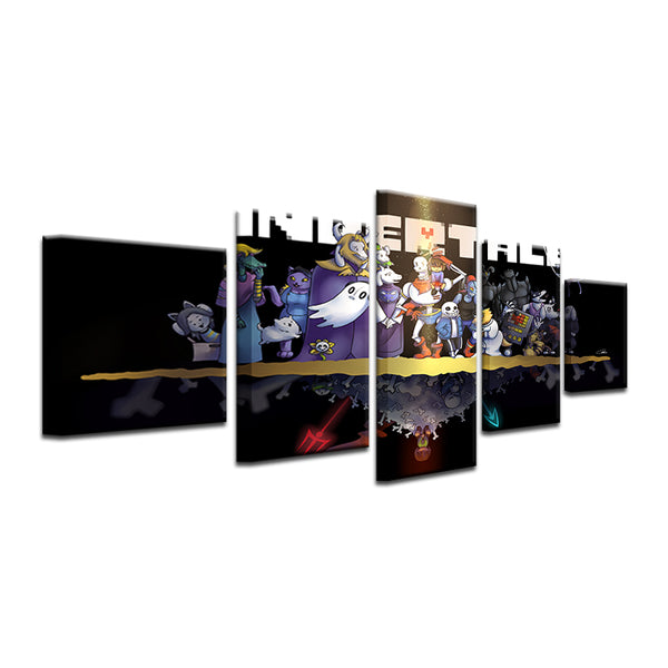 Undertale 5 Panel Canvas Print Wall Art