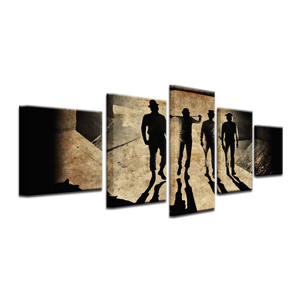 Clockwork Orange 5 Panel Canvas Print Wall Art
