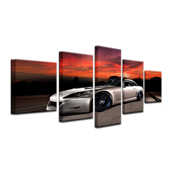 Honda S2000 5 Panel Canvas Print Wall Art