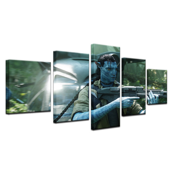 Avatar 5 Panel Canvas Print Wall Art
