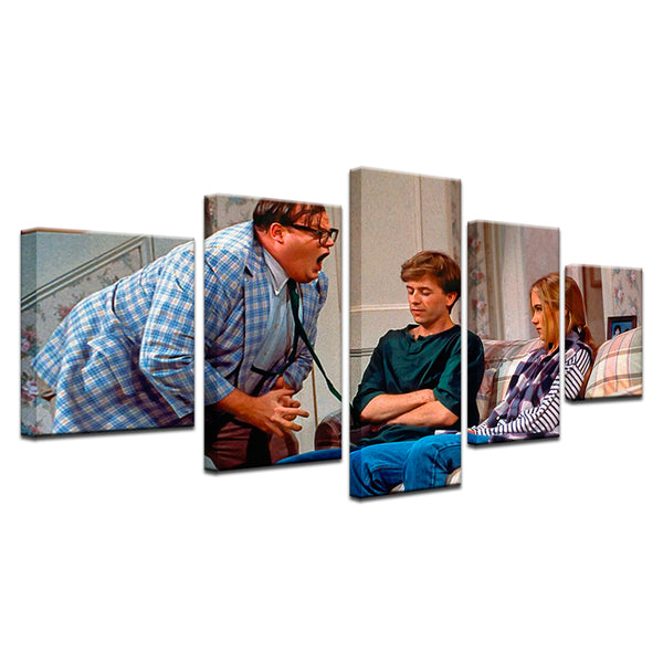 Chris Farley Matt Foley Van By The River Color 5 Panel Canvas Print Wall Art