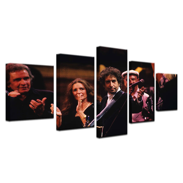 Bob Dylan 30th Anniversary 5 Panel Canvas Print Wall Art
