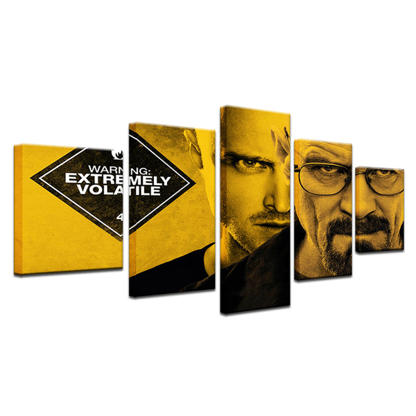 Breaking Bad 5 Panel Canvas Print Wall Art