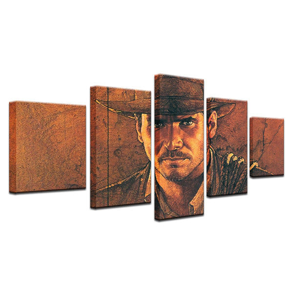 Indiana Jones 5 Panel Canvas Print Wall Art
