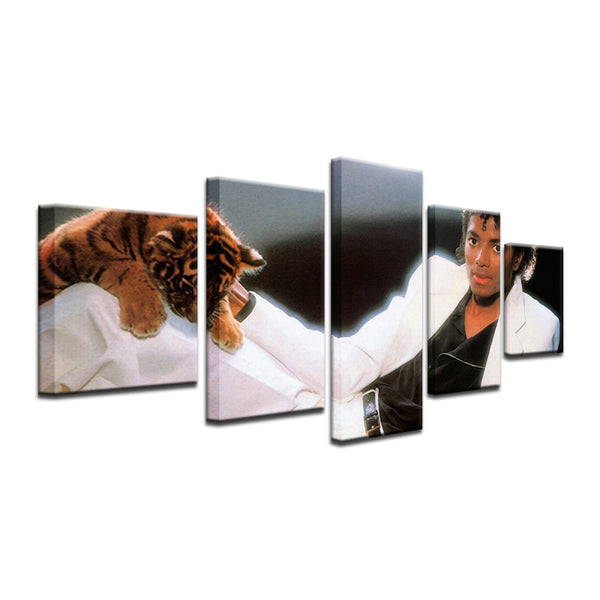 Michael Jackson Thriller 5 Panel Canvas Print Wall Art