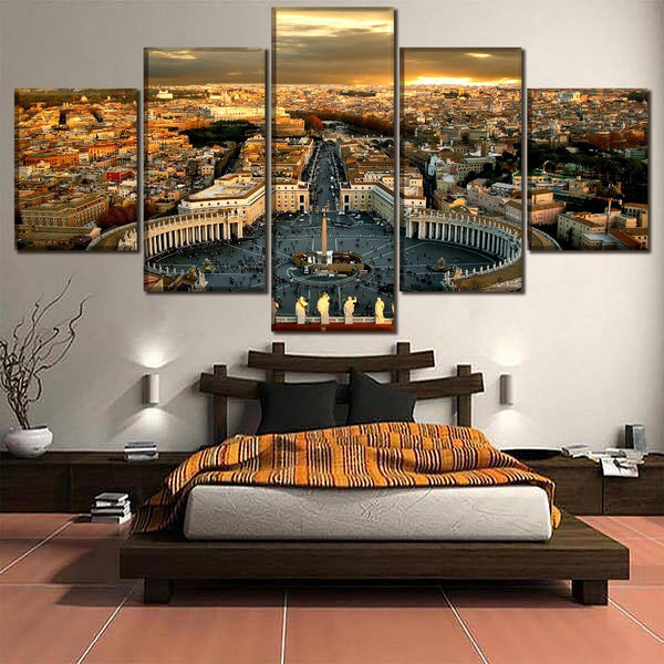 Vatican City 5 Panel Canvas Print Wall Art