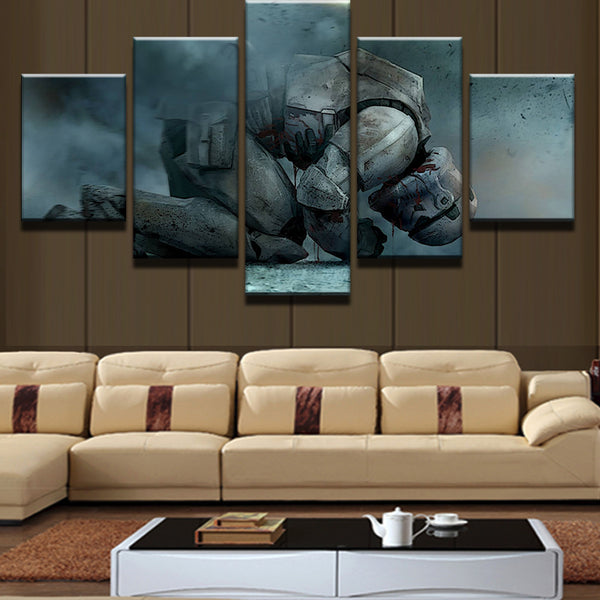 Star Wars Kneeling Stormtrooper 5 Panel Canvas Print Wall Art Canvas Print Got It Here