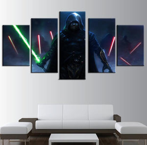 Star Wars Luke Skywalker 5 Panel Canvas Print Wall Art Canvas Print Got It Here