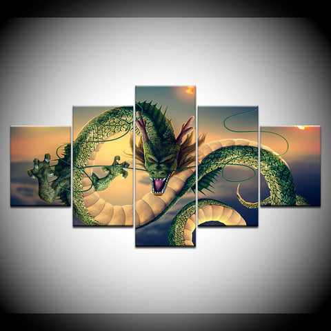 Shenron Dragon Ball Z 5 Panel Canvas Print Wall Art