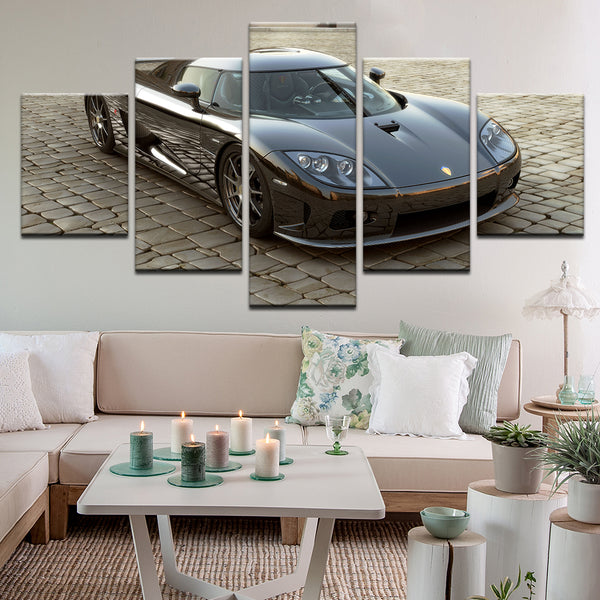 Koenigsegg CCX 5 Panel Canvas Print Wall Art