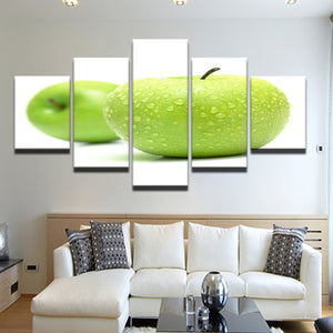 Apples Granny Smith 5 Panel Canvas Print Wall Art