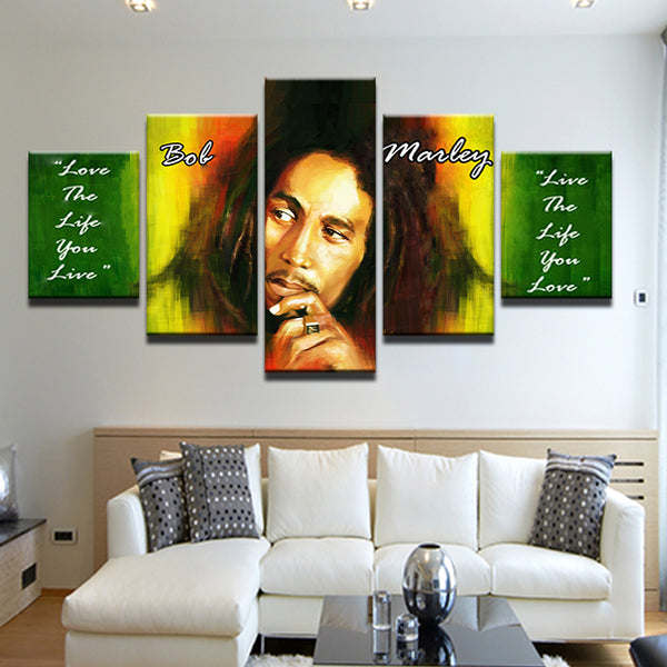 Bob Marley Quote 5 Panel Canvas Print Wall Art