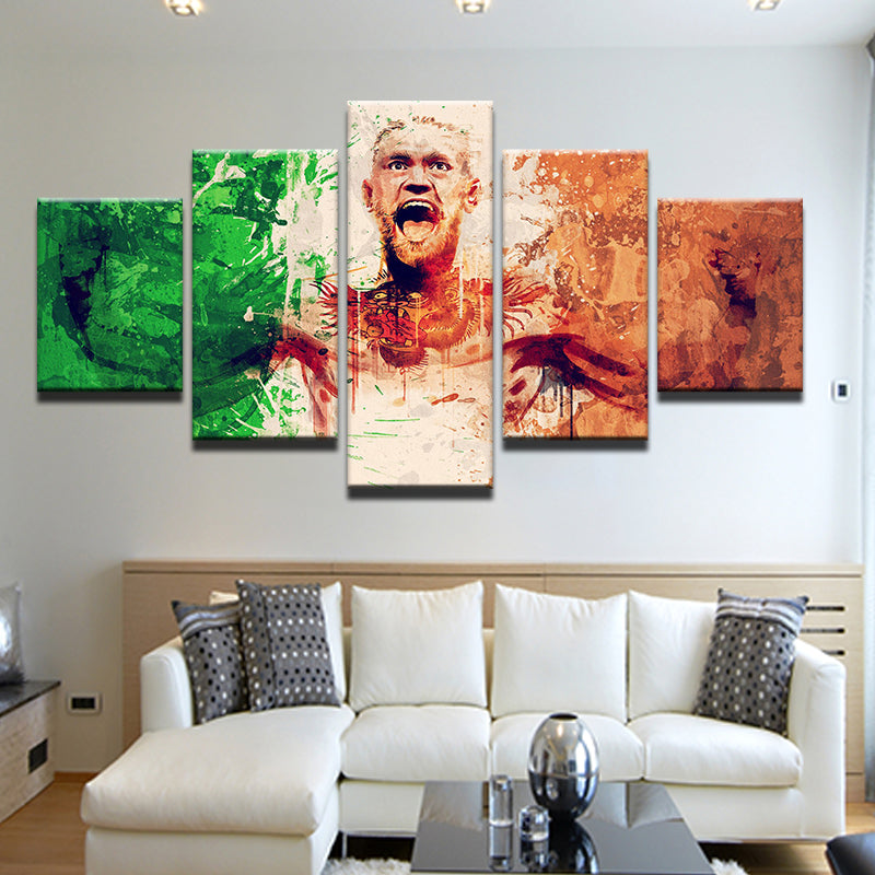 Conor McGregor UFC 5 Panel Canvas Print Wall Art