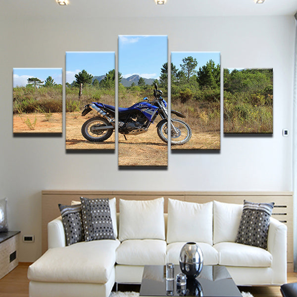 Dirt Bike Yamaha XT660R 5 Panel Canvas Print Wall Art
