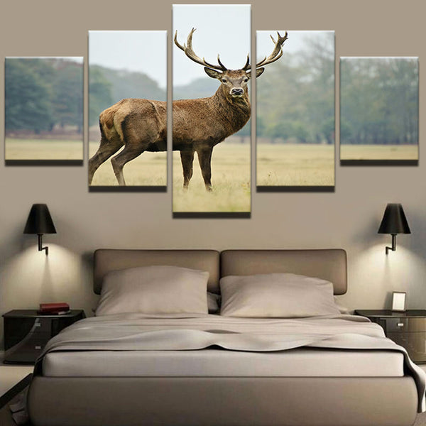 White Tailed Buck 5 Panel Canvas Print Wall Art Hunting Deer Canvas Print Got It Here