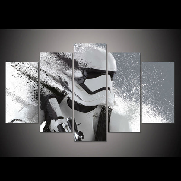 Star Wars Stormtrooper 5 Panel Canvas Print Wall Art Canvas Print Got It Here