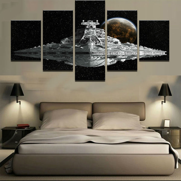 Star Wars Imperial Star Destroyer 5 Panel Canvas Print Wall Art Canvas Print Got It Here