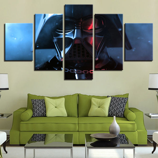 Star Wars Darth Vader 5 Panel Canvas Print Wall Art Canvas Print Got It Here