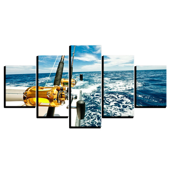 Deep Sea Fishing 5 Panel Canvas Print Wall Art Canvas Print Got It Here