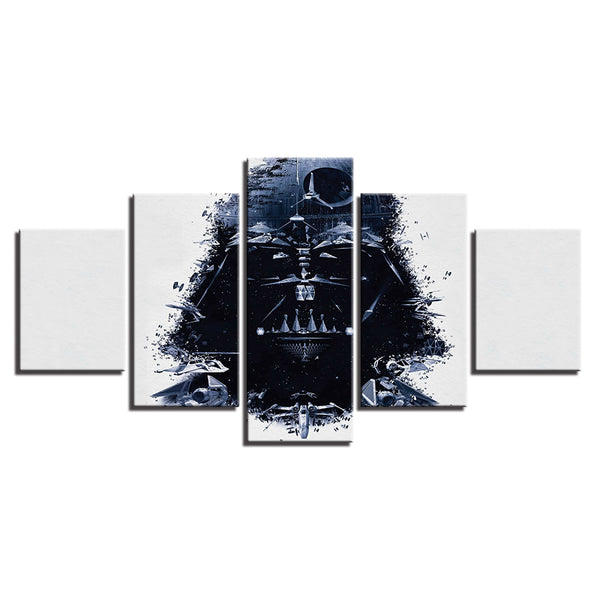 Star Wars Abstract Darth Vader Collage 5 Panel Canvas Print Wall Art Canvas Print Got It Here