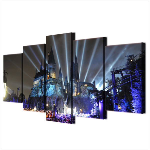 Harry Potter Hogwarts Universal Studios 5 Panel Canvas Print Wall Art Canvas Print Got It Here