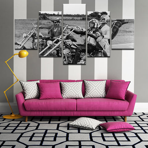 Easy Rider 5 Panel Canvas Print Wall Art