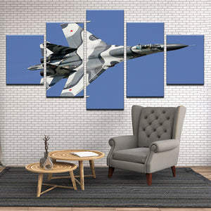 SU-35 Flanker 5 Panel Canvas Print Wall Art