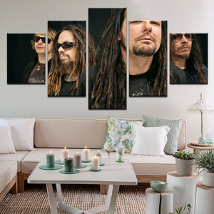 Korn 5 Panel Canvas Print Wall Art