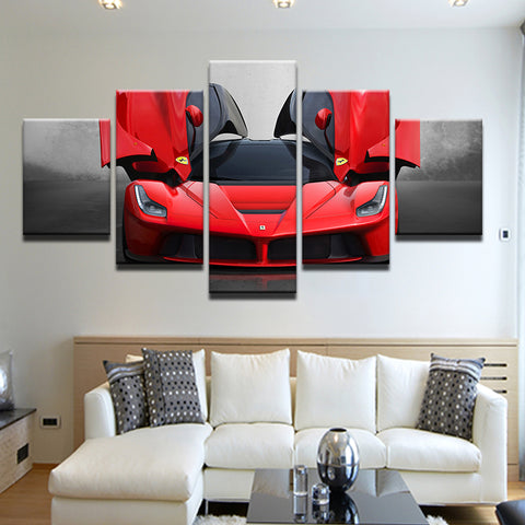 Ferrari LaFerrari 5 Panel Canvas Print Wall Art