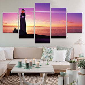 Lighthouse 5 Panel Canvas Print Wall Art
