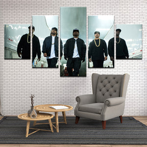 NWA 5 Panel Canvas Print Wall Art