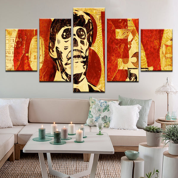 Obey 5 Panel Canvas Print Wall Art