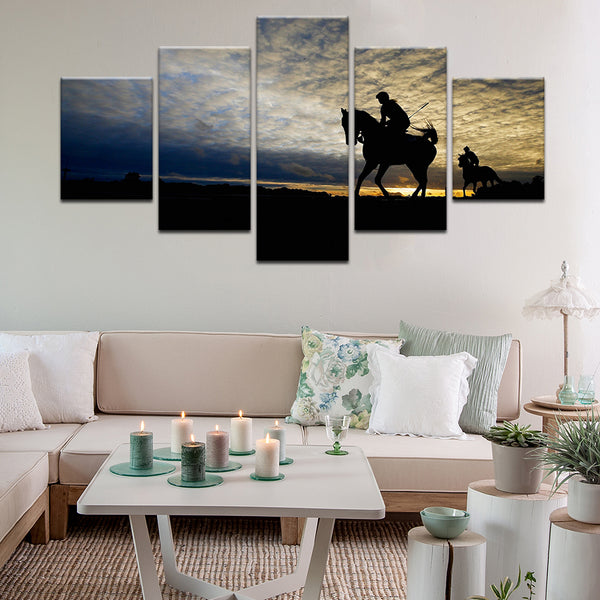 Polo 5 Panel Canvas Print Wall Art