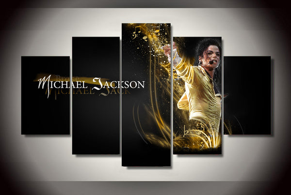 Michael Jackson 5 Panel Canvas Print Wall Art