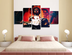 Jimi Hendrix 5 Panel Canvas Print Wall Art  Got It Here