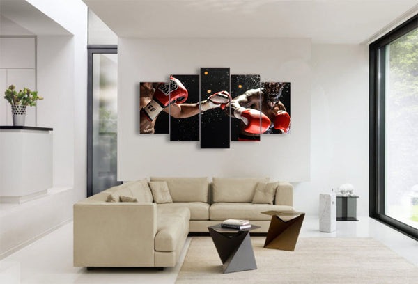 Boxing 5 Panel Canvas Print Wall Art  Got It Here